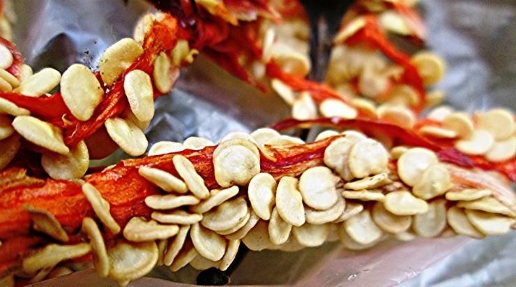 сушка семян перца