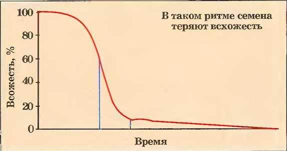 всхожесть семян во времени график