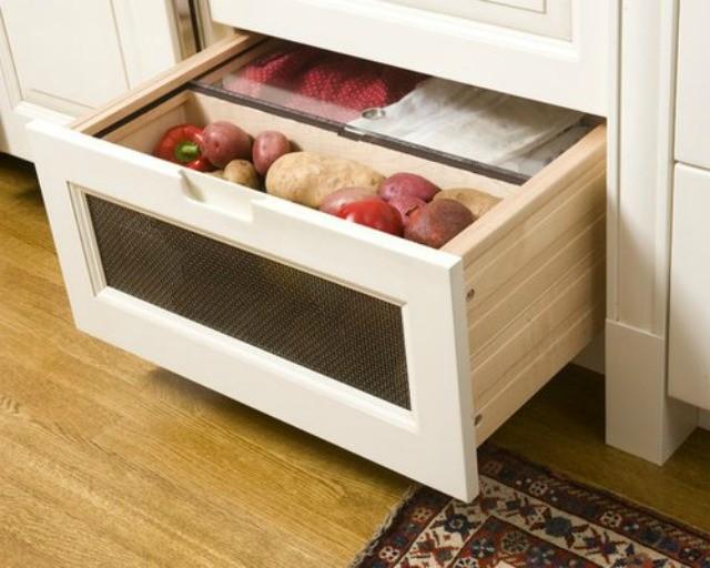 хранение овощей в шкафу