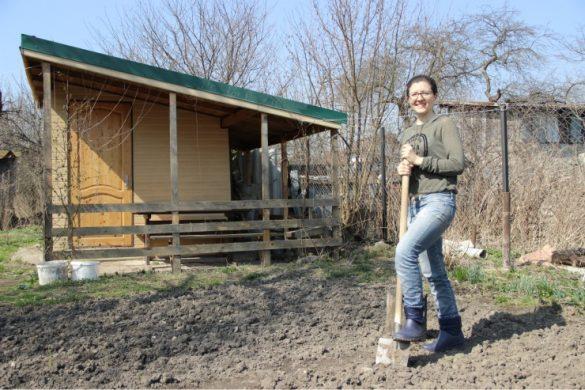 я копаю огород