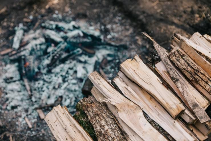 дрова и древесная зола